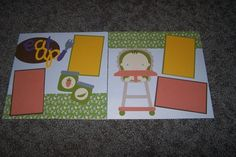 Baby Scrapbook Pages. Let's Eat. Scrapbook by 1OfAKindCrafts