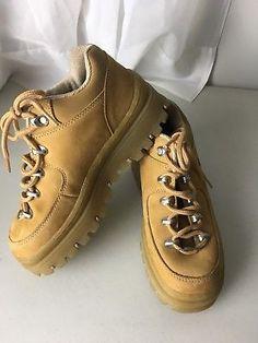 19c333c5465 VINTAGE 90 s SKECHERS JAMMERS Rare PLATFORM Hiker Shoes GRUNGE Boots Size 7