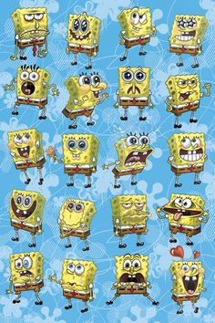 The many faces of Spongebob