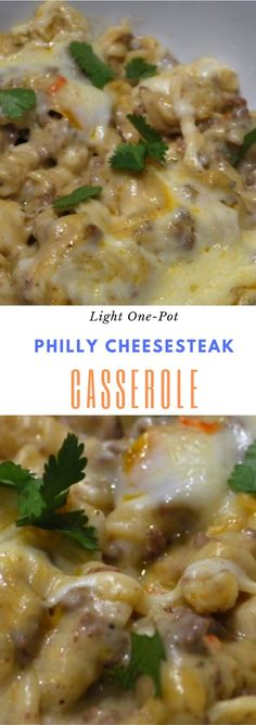 Light One-Pot Philly Cheesesteak Casserole #dinner #maincourse #weightwatchers #lowcarb #onepot #philly #cheesesteak #casserole