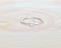 SALE!!! Rainbow Moonstone Ring. Sterling Silver Rainbow Moonstone Ring