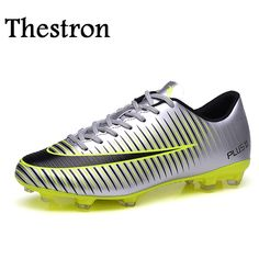 on sale fddaa 0a466 Thestron Men Football Shoes Firm Ground Football Shoes Boys fg Original  Soccer Cleats New Cool Football