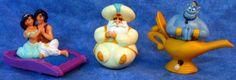 ALADDIN Princess Jasmine on Magic Carpet, Aladdin,Magic Genie, Set of 3 Toys E6