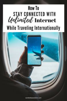 Here is the best way to stay connected when traveling internationally #budgettravel #internationaltravel #travelhacks