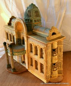Fully edible gingerbread house. Replica of the Municipal House in Prague. Made by excellent and absolutely unique: https://www.facebook.com/gingerbreadhousecompany
