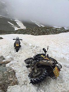 snow adventure motorcycles