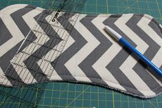 Sewing thru the middle when finished helps the finished product lay neater when folded