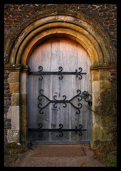 door in St.Martha's Church in Surrey, England