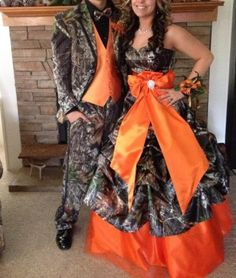 Camo Wedding Dresses For the Modern Bride: Thinking Outside The Box ★You can find Camo dress and more on . Camouflage Prom Dress, Camo Wedding Dresses, Camo Dress, Wedding Attire, Camouflage Wedding, Wedding Gowns, Country Prom, Country Girls, Country Style