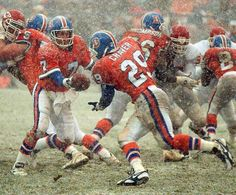John Elway turning up the heat on a cold winter ball game in Denver. #ThrowBack —