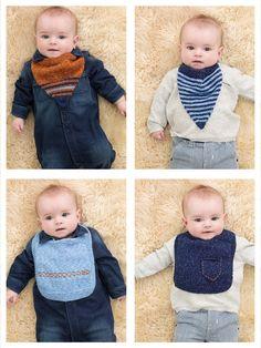 Harper Baby Bibs (Knit)