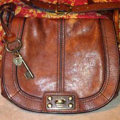 Fossil Vintage re Issue Crossbody Flap Handbag Purse Brown | eBay