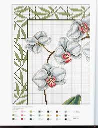 Resultado de imagem para graficos orquideas em toalha de banho ponto cruz