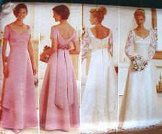 UNCUT Pattern Butterick 4772 Women Misses Wedding by NoZippers