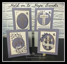 Hold On To Hope Stamp Set, Cross of Hope Framelits, Layering Ovals, Easter, Sympathy, Stampin' Sisters Retreat