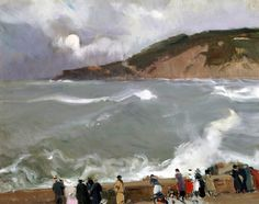 The Breakwater of San Sebastian by Joaquin Sorolla Y Bastida - Canvas Art Print