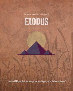 Graphic design poster for the book of the Bible, Exodus