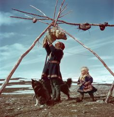 Robert Capa's Unpublished Color Photographs Debut at ICP - LightBox - Lapp family, Norway 1951