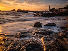 #Finistere #Bretagne et...: marée haute au coucher du soleil à #Tregunc (8 photos) © Paul Kerrien http://toilapol.net