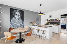Open kitchen concept. Pcture is bought in Bali, and the kitchen is from IKEA