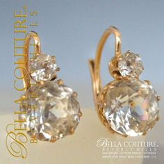 Bella Couture® - SOLD! - (ANTIQUE) Rare French 5ct Rose Cut Paste Georgian Victorian 18K 18Ct Solid Rose Gold Earrings Circa 1700s - 1830s Fine Jewelry, $1,195.00 (http://www.bellacouture.com/sold-antique-rare-french-5ct-rose-cut-paste-georgian-victorian-18k-18ct-solid-rose-gold-earrings-circa-1700s-1830s-fine-jewelry/)