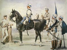 Italian troops during the Boxer's Rebellion, China Italian Empire, Italian Army, Colonial, Military Art, Military History, Military Uniforms, Boxers, Taiping Rebellion, Boxer Rebellion