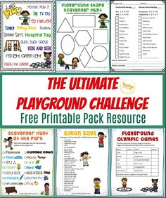 Do you need some help with outdoor games for your kids to play? If so, Here is an awesome FREE printable for you this summer! Your kids will love this resource pack. It is the ultimate playground challenge for your kids! Just print it out and take them to the park! #freeprintable #outdoorfun #playgroundfun #summer #kidsactivities List Of Outdoor Games, Outdoor Games To Play, Playground Safety, Playground Games, Relay Races, Scavenger Hunt For Kids, Step Kids, Going Crazy, Activities For Kids