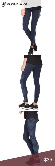 "SPANX Aztec Stripe Leggings SPANX Aztec Stripe Leggings, Size L, Color: PURE NAVY/LIGHTER PURE NAVY      Minimal seams create a smooth, flattering fit in these full-length leggings stylishly appointed with Aztec-inspired designs down both sides.     - Pull on style     - Approx. 10"" rise, 27"" inseam     - Imported  Fiber Content     Nylon/polypropylene/spandex  Care     Machine wash cold, dry flat  Additional Info     XS=2, S=2-4, M=6-8, L=10-12. SPANX Pants Leggings"