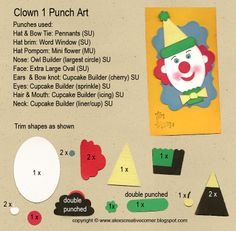 Alex's Creative Corner: Clown Birthday Tag