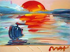 American 500: Sunset - Peter Max