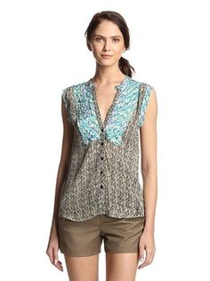 55% OFF Tolani Women's Jillian Sleeveless Top (Turquoise/Black)