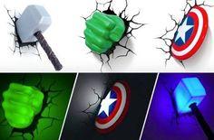 avengers lampara ironman hulk thor capitan america spiderman