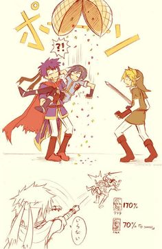 """Hahaha. Oh Marth. #SSBB Ike says """"Iranai"""" in the last panel, which means """"I don't need you."""""""