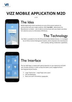 Vizz Mobile Application - Manufacturer 2 Dealer by Vizz Media via slideshare