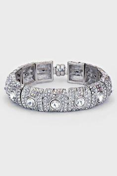 Crystal Lamire Bracelet in Ice