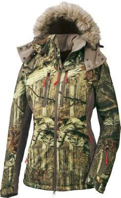 Cabela's Women's OutfitHER™ Insulated Jacket--NEED! looks so warm for those cold mornings during hunting season!