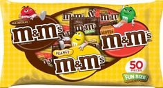 M&M's Fun Size Mix Variety Bag, 50-Piece, 30.50-Ounce - http://bestchocolateshop.com/mms-fun-size-mix-variety-bag-50-piece-30-50-ounce/