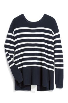 Perfect navy/white striped sweater. Sign up for Stitch Fix and your Stylist will send the perfect pieces right to your doorstep. Fill out a quick Style Profile online, set your budget & try on handpicked styles in your own home. Keep what you love and send the rest back. Free shipping & returns, always! #ad