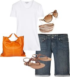 """""""summer outfit"""" by stephmannette on Polyvore"""