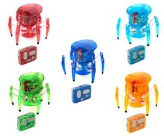 Each Hexbug Spider features 360 degree steering, an LED forward eye, and two-channel, user selectable infrared remote control. The two-channel remote control enables the user to operate multiple bugs independently or at the same time. Electronic Toys, Educational Toys, Godzilla, Gifts For Kids, Minions, Gadgets, Free Delivery, Tech, Tecnologia