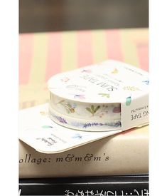 Lavender and Little Leaves Washi Tape Set by chickydoddle on Etsy