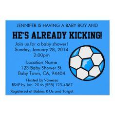 Soccer Baby Shower Invitation, Customizable