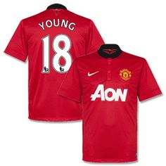 ec2dbd2a9 Nike Man Utd Home Shirt 2013 2014 Vidic 15 Man Utd Home Shirt 2013 2014  Vidic