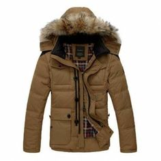 Mens Thicken Warm Winter Coats Parka Overcoat Outwear