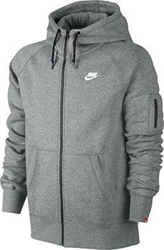 ce26a5e07a31 Nike Aw77 Fleece Sweat à capuche zippé Homme Dark Grey  Amazon.fr  Sports  et Loisirs