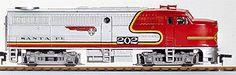 Walthers Trainline #931-207 Alco FA1 Santa Fe #202A, DC ONLY, Ready to Run, HO