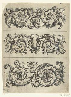 Drie friezen, Paul Androuet Ducerceau, anoniem, Nicolaes Visscher (II), ca. 1680 - ca. 1700