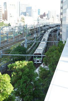 JR新宿駅の隠れスポットにて