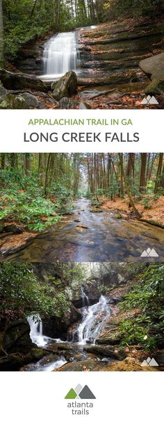 Hike a scenic stretch of the Appalachian Trail in Georgia to the beautiful Long Creek Falls, and explore the lush, waterfall-filled Three Forks valley. #hiking #running #camping #backpacking #atlanta #georgia #travel #outdoors #adventure