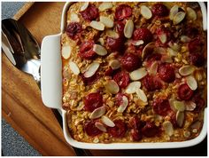 Baked Oatmeal With Sour Cherries and Almond